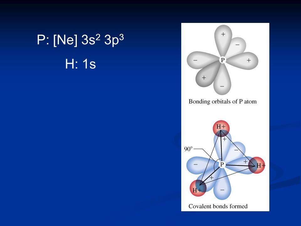 P: [Ne] 3s2 3p3 H: 1s